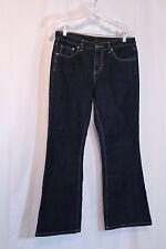 Calvin Klein Flare Boot Cut Black Denim Jeans Size 8 Cotton Spandex