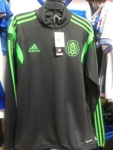 Adidas Mexico Training Top 3/4 Zip 2014 Grey Green Size 2XL Men's Only