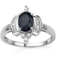 Sapphire White Gold 10 Carat Fine Rings