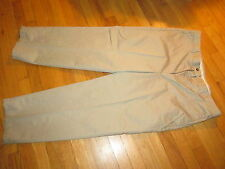 Men's Haggar Select No Iron Cotton Tan Pants Size 40X29 Very Good Condition