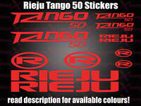 Rieju TANGO 50 CUSTOM Decals/Stickers ALL COLOURS AVAILABLE