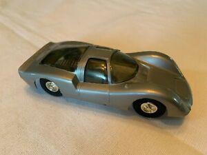 Eldon Porsche Carrera Silver Slot Car 1/32 Scale Vintage Tyco Aurora 1960s