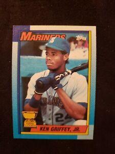 "💰RARE 1of1 1990 Topps Ken Griffey Jr ""Bloody Elbow"" & Yellow Dye Error #336"