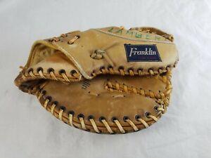 Vtg Franklin Leather First Baseman's Baseball Glove B318 Super Scoop for RHT