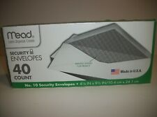 Mead Security Envelopes No. 10 4 1/8in x 9 1/2in