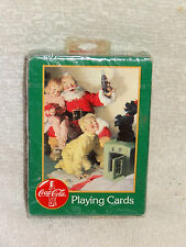 Coca-Cola Coke Christmas Santa & Kids Playing Cards- Unopened Pack- 1996- Green