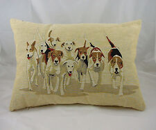 Evans Lichfield Hunting Hounds Traditional Tapestry Filled Cushion 18 X 13 Inch