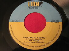 SOUL 45 - VEE ALLEN - CHEATING IS A NO NO / CAN I - LION 140