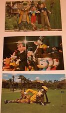 Walt Disney World Postcards--Mickey--Goofy--Pinocchio--1970's