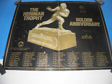 """1984The Heisman Trophy Golden Anniversary Downtown Athletic Club  Poster 22""""X28"""""""