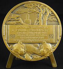 Medaille Paul Fleurot 1932 5ème arr Paris Jardin des plantes Lions animal medal