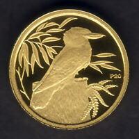 Australia. 2009 (1990) 1/20th oz Gold Kookaburra ($5).  Perth Mint Issue - Proof