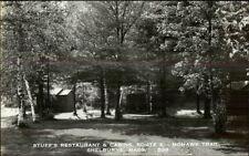 Shelburne MA Stuff's Restaurant & Cabins Real Photo Postcard