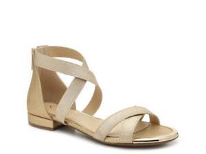 Jessica Simpson Aimlee Sandal - Metallic Flats Designer Womens Shoes New