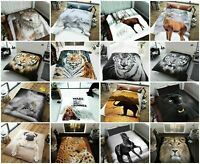 3D Animal Throws Luxury Cosy Warm Large Fleece Blanket Sofa Bed Double King Size