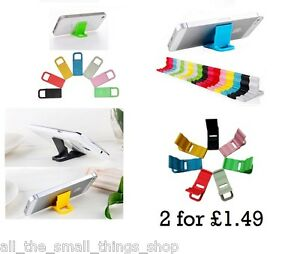 2 x Universal Keychain Mobile Phone Stand - Desk Station iPhone Samsung Key Ring