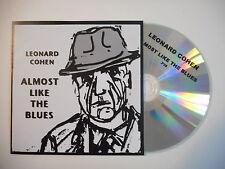 Last French CD Single Promo ! LEONARD COHEN : ALMOST LIKE THE BLUES [ PORT 0€ ]