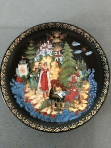 "Russian Palekh Plate ""The Legend of Tsar Saltan"" Collection Series"