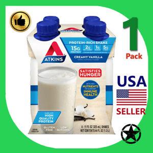 1 Pack Atkins Protein Rich Shake Creamy Vanilla 4-11 fl oz