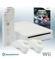 Nintendo Wii - Konsole #weiß + Super Mario Galaxy + 2 Original Remotes + Zub.
