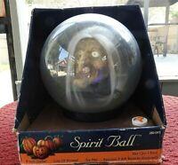 "Pumpkin Hollow Halloween ""SPIRIT BALL"" Talking Moving Witch WORKS! Very Rare NIB"
