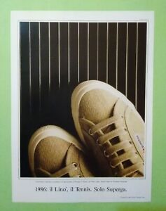Pubblicita'Advertising Originale Vintage SUPERGA 2750 scarpe tennis  1986 (A25)
