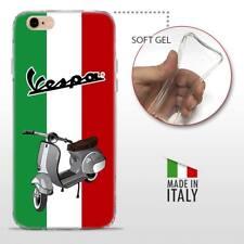 iPhone 6 6S TPU CASE COVER PROTETTIVA GEL TRASPARENTE VINTAGE Vespa Tricolore