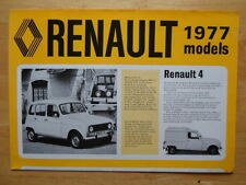 RENAULT Range 1976 1977 UK Mkt sales brochure - 4 5 6 12 15 16 17 20 30