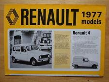 RENAULT Range 1976 1977 UK Mkt sales brochure - 4 5 6 12 15 16 17 20 30