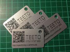 50x plastic Key Tags/fobs. Custom design, Your Logo, Any Font.