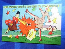 WW2 Comic Postcard 1939 1945 Anti Adolf Hitler - WAAC Theme BIG KICK