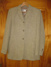 BETTY BARCLAY LINEN EFFECT BEIGE JACKET size 8/10