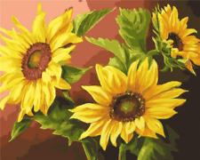 Yeesam Art Paint by Number Kits for Adults Kids - Sunflowers 16x20 inch Linen Ca