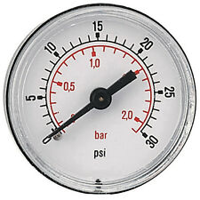 Pressure Gauge 40mm G1/8bspt 0 - 2Bar/30psi