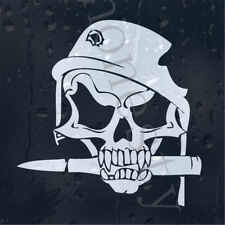 Army Skull Bullet In Military Helmet With Shot Hole Car decal Wall Sticker Decor