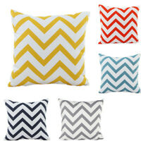 Cushion Cover Pillow Case Geometric Chevron Wave Home Sofa Car Decor 45 x 45 cm
