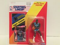 1992 Starting lineup Larry Johnson figure Card toy Charlotte Hornets NBA UNLV