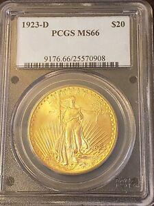 1923-D Saint-Gaudens Gold $20 Double Eagle PCGS MS-66 eBay lowest for date+grade