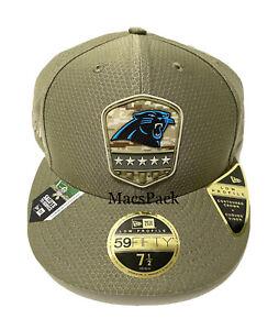 Low Profile 59Fifty Carolina Panthers NFL Salute to Service USA Hat Cap 7 1/2