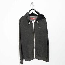 Vintage VANS Small Logo Zip Up Hoodie Sweatshirt Grey Medium M