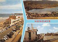 BR8771 Hendaye vue generale de la plage car voiture  France