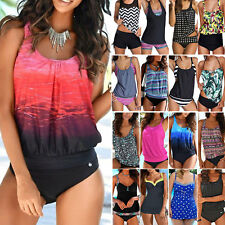 Women Tankini Bikini Set Push-Up Bathing Suit Beach Swimsuit Swimwear Beachwear