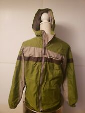 Columbia Youth Long Sleeve Hooded Full-Zip Windbreaker Green Jacket Sz 14/16