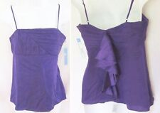 NWT $264 ALICE & OLIVIA by Stacey Bendet Jabot Ruffle Camisole Purple SMALL