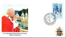 615- FDC VATICAN VISITE PAPE JEAN PAUL II   EN  SLOVENIE