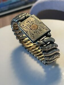 ANTIQUE VICTORIAN ROLLED GOLD BRACELET  MOURNING JEWELRY RARE COLLECTIBLE 1880S