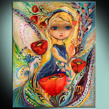 The Fairies of Zodiac series - Virgo: ready to hang art nouveau canvas print