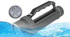 KC Fire Diving Flashlight 4 x UV Ultraviolet LED Lantern Torch Underwater 100M
