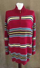 2X Ralph Lauren womens plus size red cardigan striped sweater 2XL holiday ski