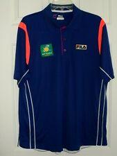 Fila Mens S/S Bnp Paribas Open Tennis Polo Shirt - Size Xl